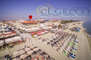 Location, El Greco hotel Olympic beach Paralia Pieria Greece hotels